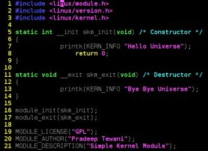 Simple Kernel Module