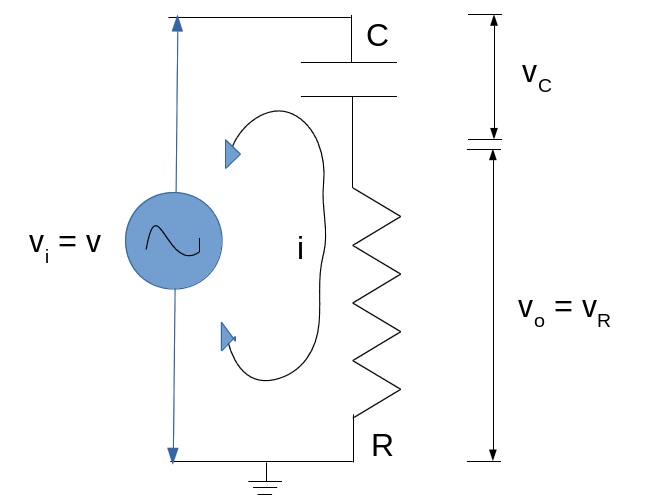 Capacitor Resistor Series Circuit - High Pass Filter