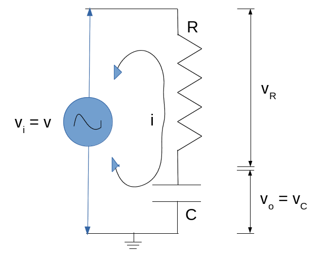 Resistor Capacitor Series Circuit - Low Pass Filter