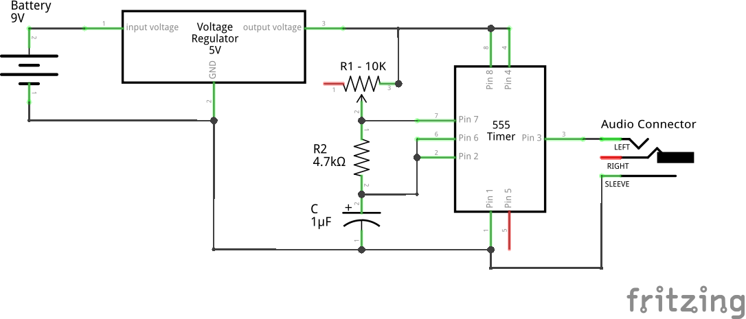 Square Wave using 555 (Schematic)